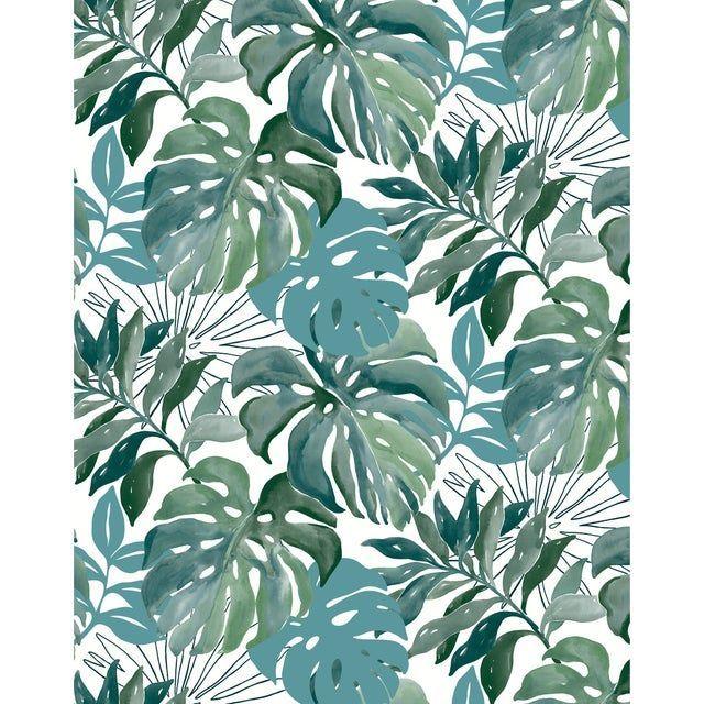 Papier Peint Vinyle Marque A Chaud Jungle Aquarelle Vert