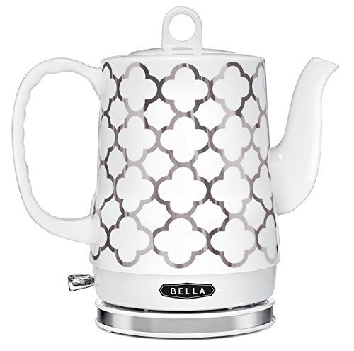 BELLA 14522 Electric Ceramic Kettle, White and Silver BELLA http://www.amazon.com/dp/B016QTM0N8/ref=cm_sw_r_pi_dp_smzcxb1BZEVTS