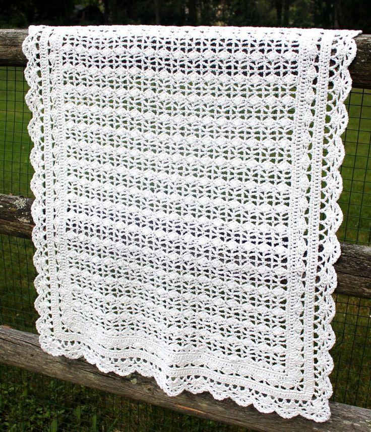 Crochet Patterns Christening Blanket : 17 Best images about Crochet christening blankets on ...