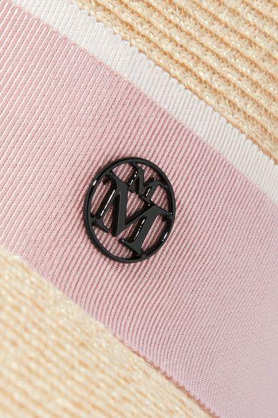 Maison Michel | Charles grosgrain-trimmed woven hemp-blend fedora | NET-A-PORTER.COM