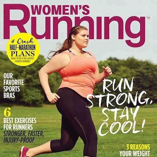 Healthy living comes in all shapes and sizes. Running Magazine Put A Plus-Size Woman On Its Cover