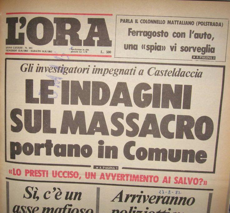 14 agosto 1982, L'Ora, prima pagina