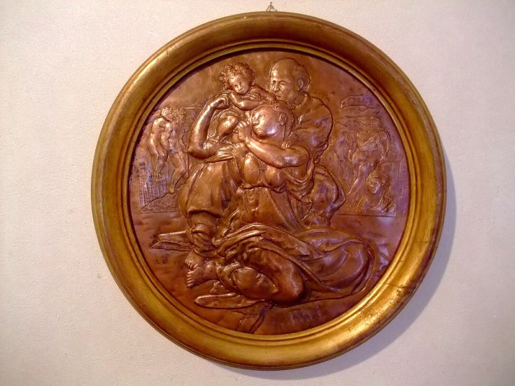 Tondo doni di Michelangelo Hammer out copperplate