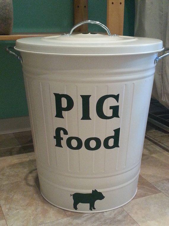 Pig food container pig food storage Juliana by birdandorchidgarden