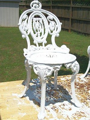 How To Paint Cast Iron Furniture, Great tips can't wait to restore our outdoor swing