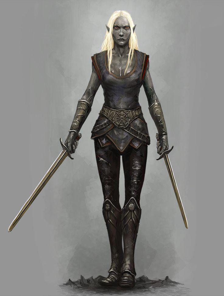 Drow Swordmistress by Seraph777.deviantart.com on @DeviantArt