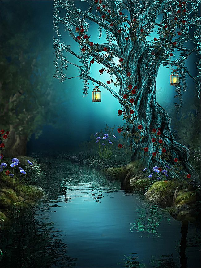 Anime Girl Deviantart Wallpaper Beautiful Fantasy Magic Forest Background In 2020