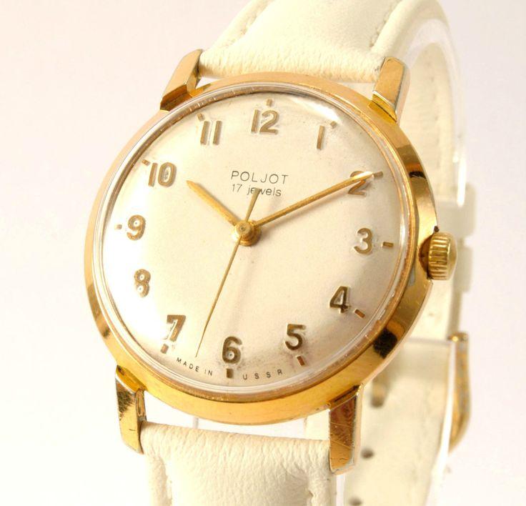 FOR SALE: Poljot Goldplated Vintage Watch USSR