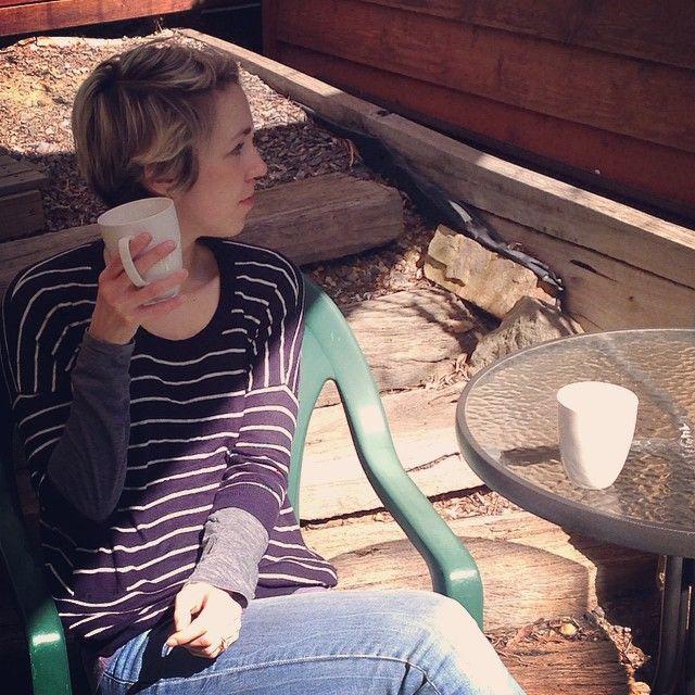 Warmest day we have had in months and I'm still drinking tea #summeriscoming #garden #tea #warmth