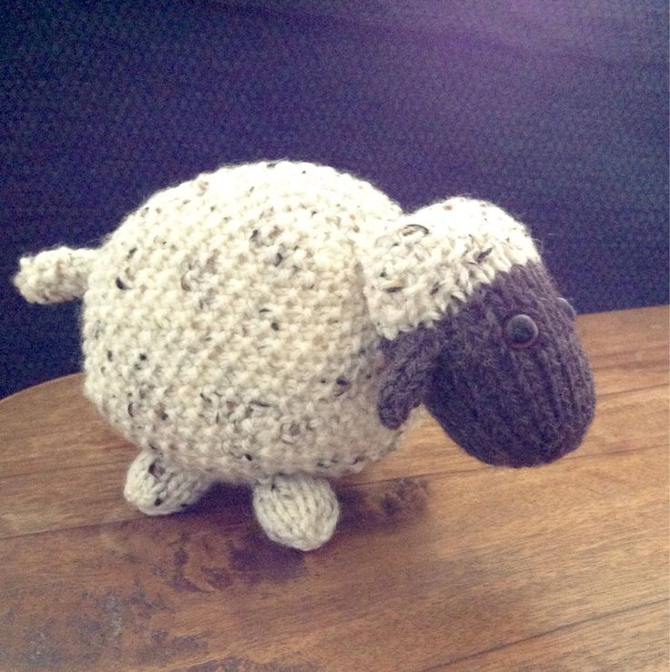 A personal favourite from my Etsy shop https://www.etsy.com/uk/listing/528113232/knitted-stuffed-sheep