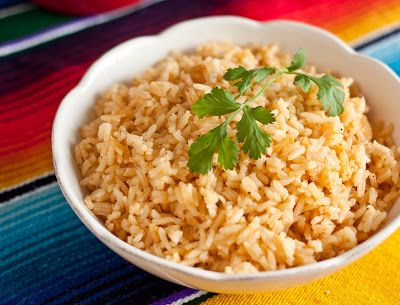 Authentic Mexican Rice - as far as non sticky authentic taste goes, this recipe is easy & definitely spot on. Very important to toast the rice as it says, & using the Caldo de Tomate really helps a lot. I also added a bit more chicken base, & bought the caldo de tomate squares (cheaper) & used one square per cup of water.
