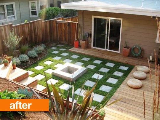Backyard Ideas For Small Yards landscaping ideas for small backyards backyard landscaping ideas Jane And Justins Backyard Before After