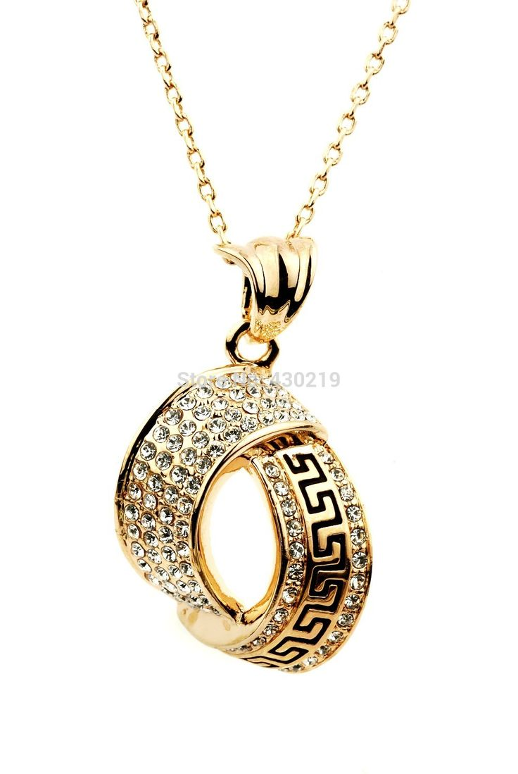 Encontre mais Colares com pingente Informações sobre N134777 zircão cristal de luxo liga de zinco ródio banhado a áustria cristal ouro rosa 18 K jóias, de alta qualidade colar nome, colar lupa China Fornecedores, Barato colar masculino de Yilinna Jewelry em Aliexpress.com