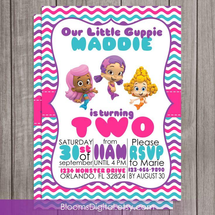 Bubble Guppies Invitation DIY Printable You by BloomsDigital, $6.50