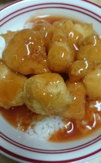 This batter is so light and crispy and the sauce is awesome! Ingredients 1⁄2 cup ketchup 1 tsp soy sauce 1⁄3 cup white vinegar 1⁄2 cup brown sugar, lightly packed 1 cup white sugar, (can reduce a 2…