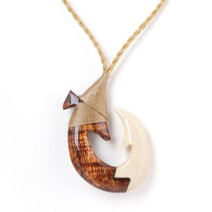 Local honolulu craftsman dewey medeiros creates these for Hawaiian fish hook necklace