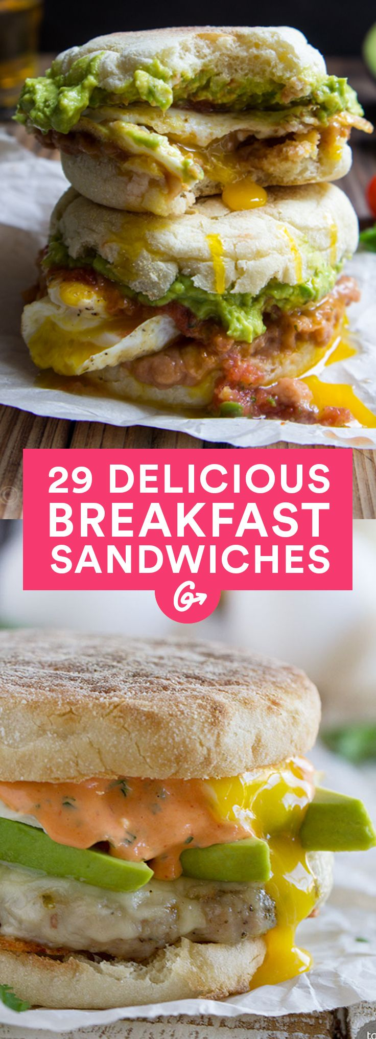 These recipes are just the thing for a morning meal that fuels your day and fits in your hands. #breakfast #sandwich #recipes http://greatist.com/eat/healthy-breakfast-sandwich-recipes