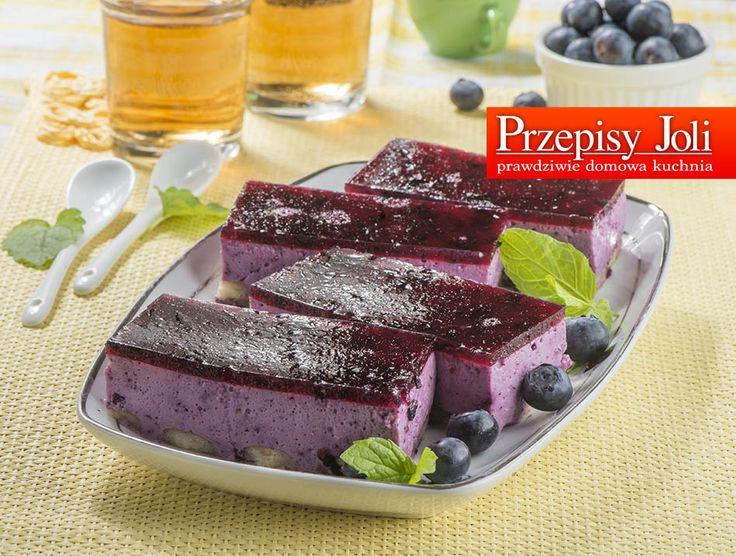 jagodowe ciasto jogurtowe z galaretka