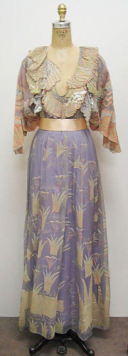 """Field of Lilies"" dress by Zandra Rhodes, British, 1971."