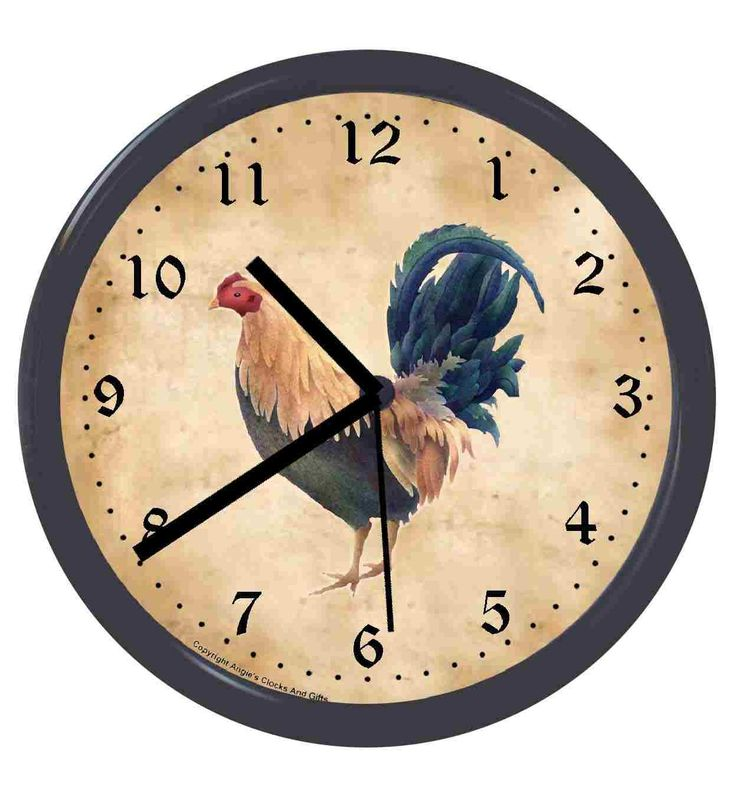 Rooster Clocks Clock - Roosters