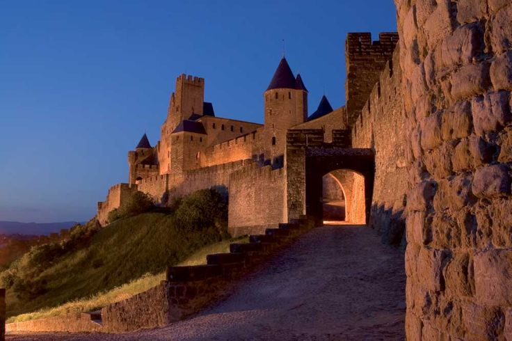 Carcassonne.  A medieval city in France.  Beautiful