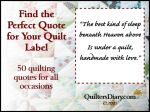 Quilt Label Sayings and Quotes for All Occasions – Margie Truelock