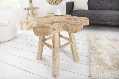 Luxusný nábytok REACTION: Stolík WOODROOT BIG z masívneho dreva.