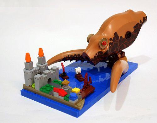 Cute kraken is cracking me up | Awesome LEGO Models | Lego