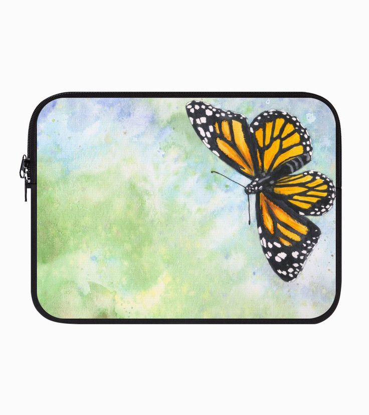 """Monarch butterfly"" Laptop sleeve by Savousepate on Artistocracy 