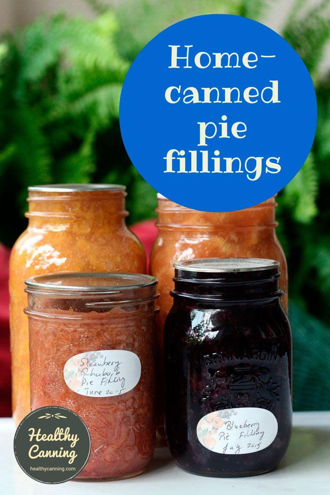 Home canned pie fillings