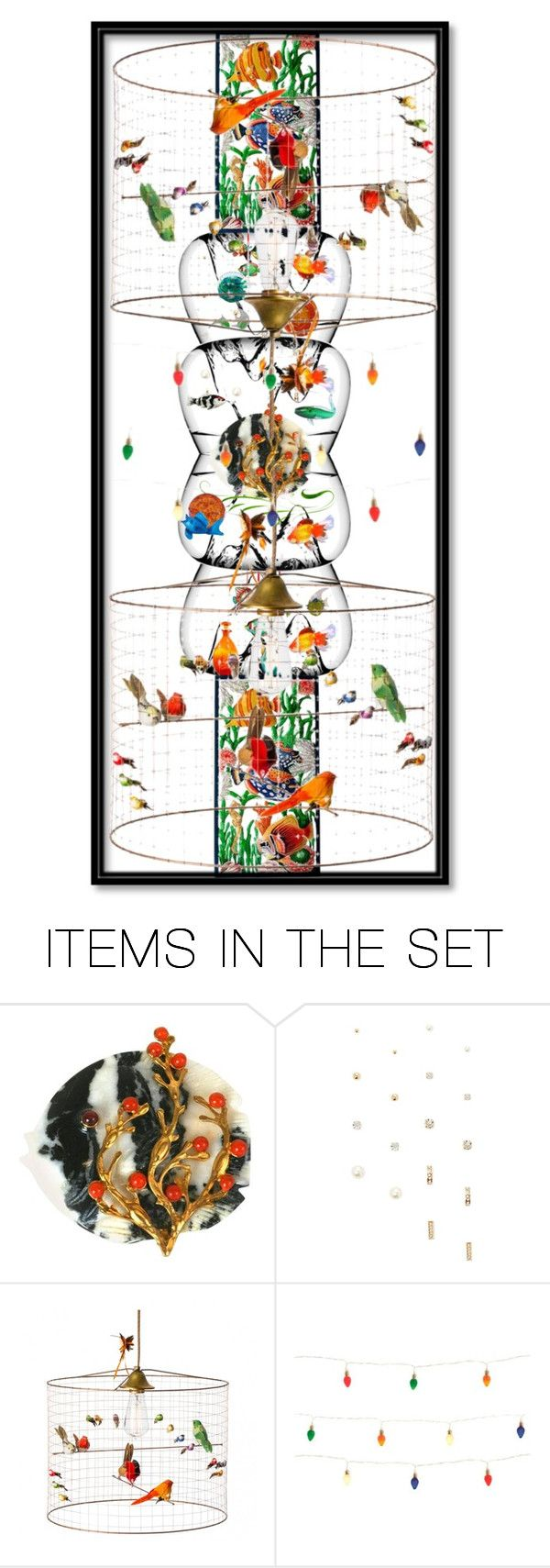 """7830 - Fish and Birds bookmark"" by suburbhater ❤ liked on Polyvore featuring art"
