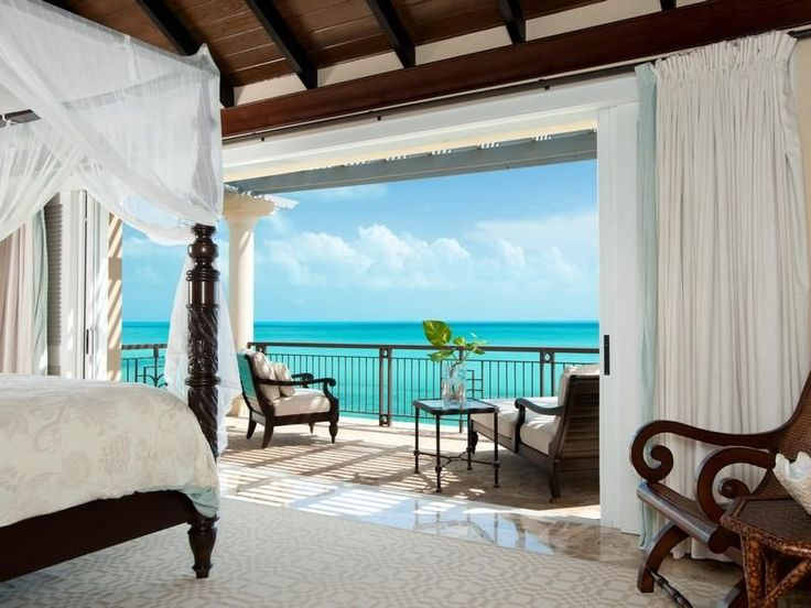Who doesn't fall for a room with a view? #masterbedroom with opening for #oceanview