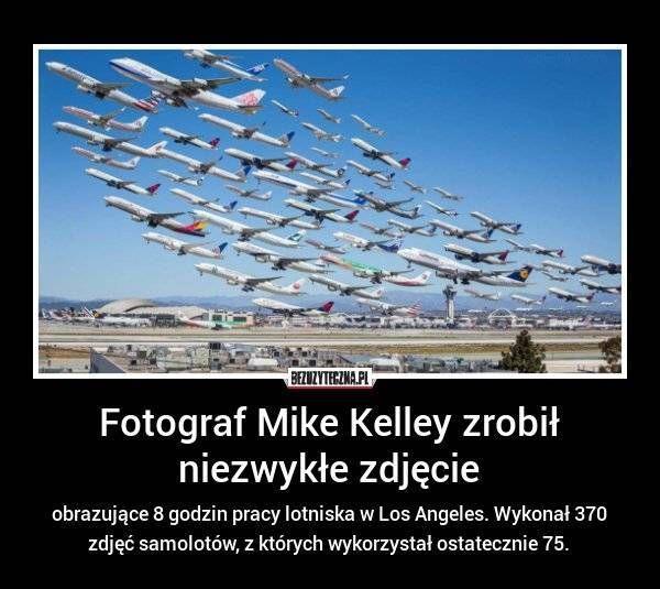 obrazujące 8 godzin pracy lotniska w Los Angeles. Wykonał 370 zdjęć samolotów, z których wykorzystał ostatecznie 75.