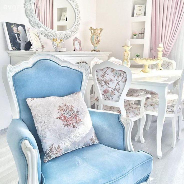 Berjer, Mavi, Salon, Yemek Odası