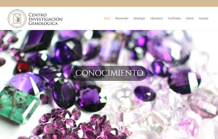 Sitio web www.gemologiacig.cl para nuestro cliente Centro de Investigación Gemológica CIG. Versión 2016.