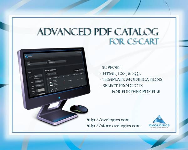 Advanced PDF Catalog extension for CS-Cart is an intuitive and powerful tool for generating PDF document based on products user has selected. Final PDF appearance depends solely on designer's imagination. We already have included twelve different templates/layouts by default.  #ovologics #CScart #ecommerce  #extensions #templates #pdf