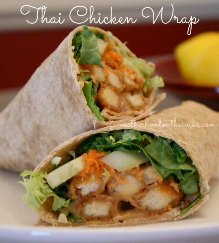 how to make chicken wraps with chicken strips