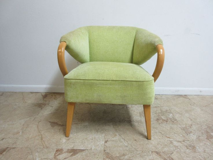 Rare Vintage Heywood Wakefield Bentwood Champagne Lounge Club Arm Chair A