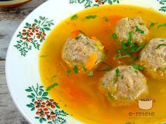 Ciorba de perisoare (Romanian meatball soup. You can substitute the ground meat with any meat you prefer to use)...my favorite!