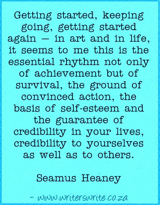 Quotable – Seamus Heaney – Writers Write