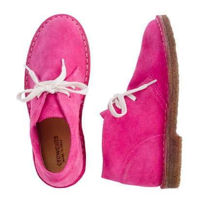 Girls' fuchsia MacAlister boots - boots - Girl's shoes - J.Crew Any chance these would stay clean longer than 1 hour?