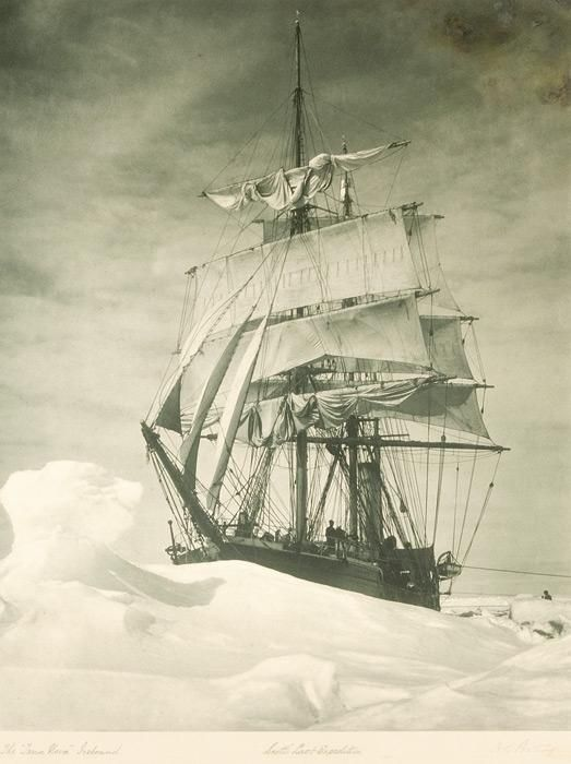 The Terra Nova, the ship used for Robert Falcon Scott's Terra Nova Expedition to the South Pole. December 13, 1910.