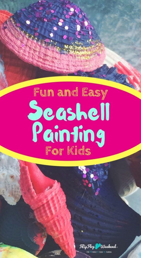 If you need some ideas for your seashells after returning from your beach vacation, this simple and easy seashell panting craft for kids is the perfect idea to create colorful souvenirs from your time together. via @flipflopweekend