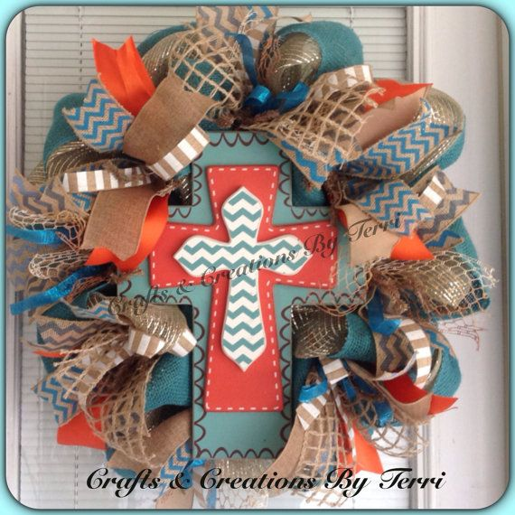 Hey, I found this really awesome Etsy listing at https://www.etsy.com/listing/181906123/chevron-cross-burlap-everyday-deco-mesh