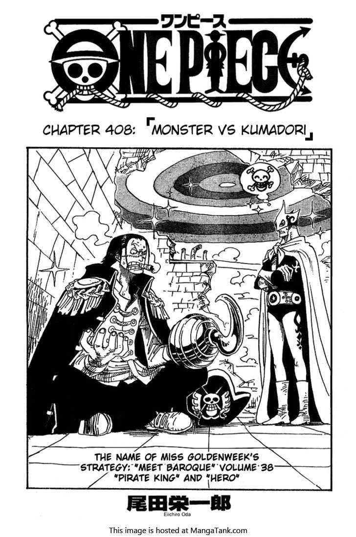 One Piece Manga ch.408 Page 1