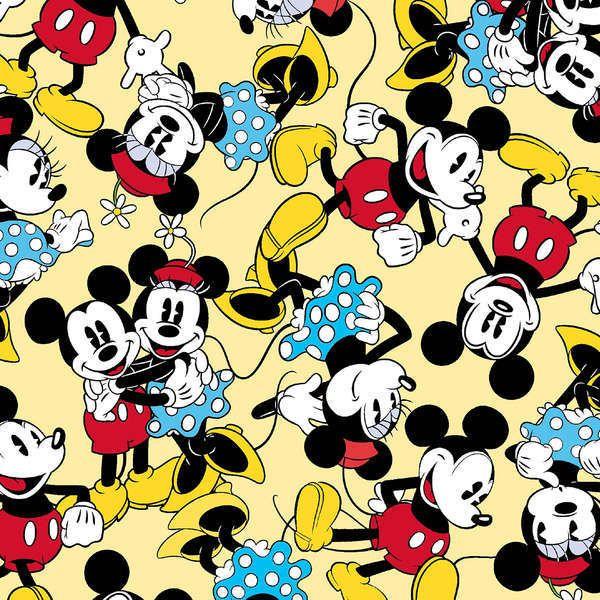 Mickey on Yellow - 1/2 yard