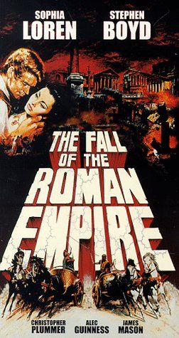 ROME, SPARTA, AND THOSE QUARRELSOME GODS!   Directed by Anthony Mann.  With Sophia Loren, Stephen Boyd, Alec Guinness, James Mason. Action-packed look at the beginnings of the fall of the Roman Empire. Here is the glory, the greed and grandeur that was Rome. Here is the story of personal lust for power, and the shattering effects of that power's loss. Here is the tale of the plight of a people living on the brink of a political abyss.