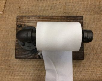 Rústico papel higiénico Industrial titular por DuffyIndustrialHome