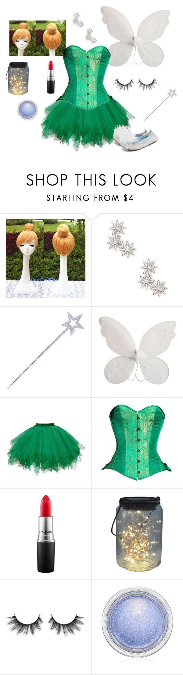 """""""Tinkerbell Halloween Costume"""" by timeless-trends on Polyvore featuring Sole Society, Circo, MAC Cosmetics, Yosi Samra, Halloween, costumeideas and timelesstrends"""