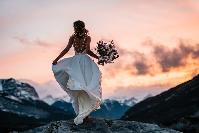 Majestic mountain bride captured by Darren Roberts Photography